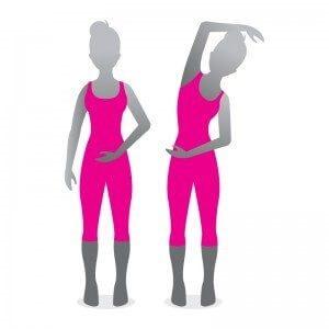 ergonomi øvelse udstrækning af ryggen